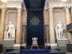 The silver royal throne is the first thing you see upon entering.