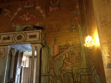 The walls depict famous Swedish fables.