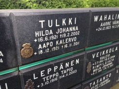Even Nazi emblems made it on to certain headstones.