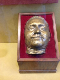 Peter the Great's death mask on display inside The Hermitage.