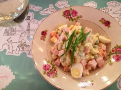 The Olivier salad with tarragon.