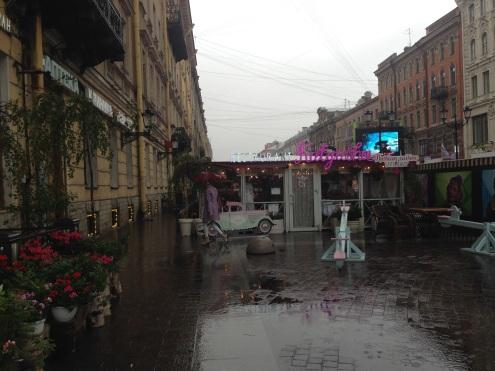 The entrance to Katyusha's on the Nevsky Prospeckt.