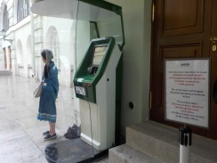 Outdoor ticket machines to get into the Winter Palace to skip the queue.