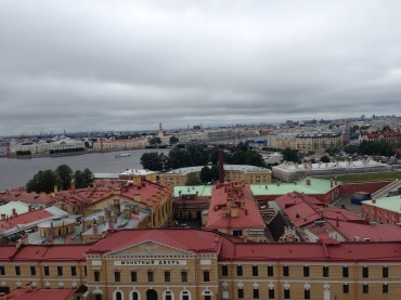 From the chapel bell tower, the town of St. Petersburg.