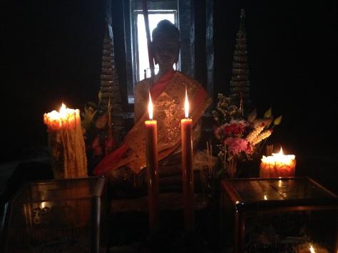 The Buddha shrine inside the temple.