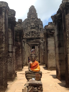 The entrance to Angkor Thom.