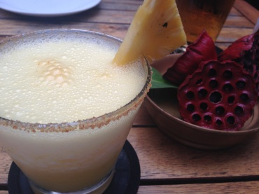 The perfect antidote to South East Asia heat: Pineapple Chili Margarita.
