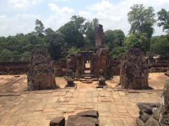 From the inside of East Mebon.