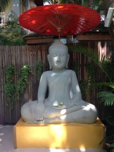 Buddha welcomed us to the hotel.