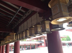 Gorgeous lanterns lined the perimeter.
