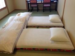 Our tatami mat beds.