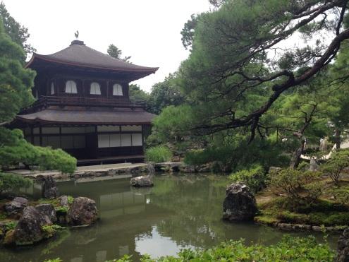 The Ginkakuji Temple.