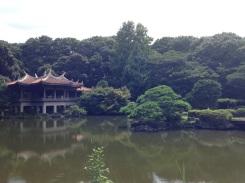 A small pagoda inside the gardens.