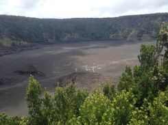 The crater itself. You can't see the people walking beneath us to show you the scale.