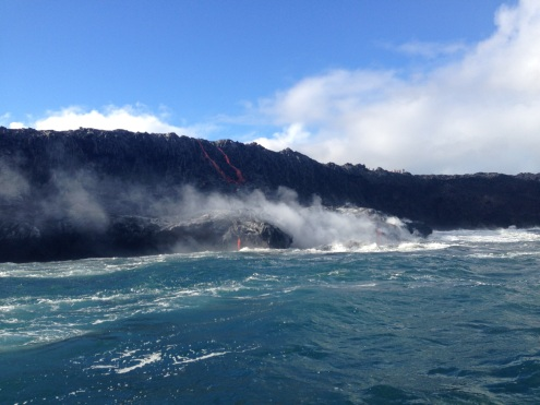 Lava forming nee facets to The Big Island.