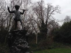 In Kensington Gardens, Peter Pan.