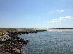Looking along the shoreline.