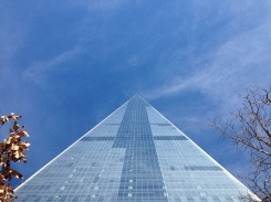 Looking straight up the One World Trade Center.