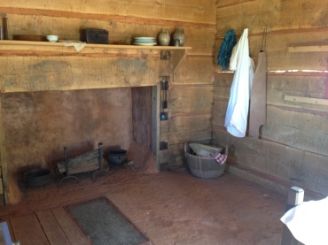 Inside the Heming's cabin, recreated.