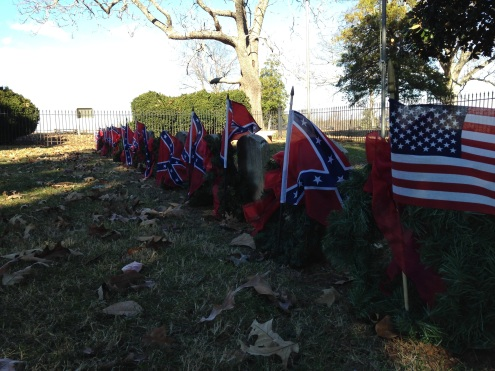 The row of Civil War soldiers.