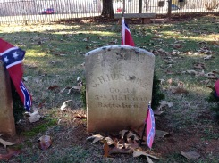 Jesse H. Hutchins buried in the small cemetery.